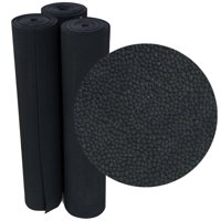"""Rubber-Cal """"Tuff-n-Lastic"""" Rubber Runner Mat - 1/8 in x 48 in x 4 ft Rolled Rubber Flooring - Black"""