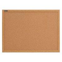 Quartet Cork Bulletin Board, 2' x 3', Oak Finish Frame (85223B)