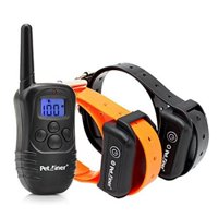 Petrainer PET998DB2 330 Yards 100Lvs Rechargeable Waterproof Electric Remote Control 2 Dog Shock Training Collar