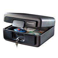 SentrySafe HD2100 Fireproof Box and Waterproof Box with Key Lock 0.37 cu ft