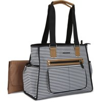 Bananafish Tote Diaper Bag 3pc set, Stripe City