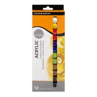 Daler-Rowney Simply Acrylic Paints - 12 Count Pack