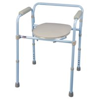 Carex 3-in-1 Folding Commode - Portable Toilet For Adults and Bedside Commode Chair