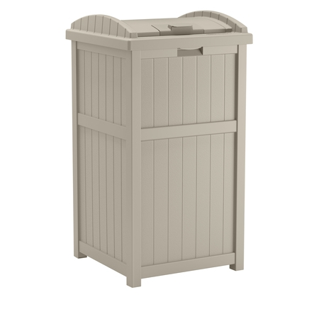 Suncast Outdoor Trash Hideaway, Light Taupe, GH1732