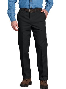 Men's Regular Fit Flat Front Pant
