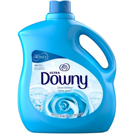 Ultra Concentrated Fabric (Downy Ultra Liquid Fabric Conditioner, Clean Breeze, 150 Loads 129 fl oz )