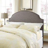 Dorel Living Skylar Nailhead Linen Headboard Full/Queen, Multiple Colors