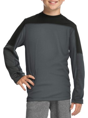 Boys' Long Sleeve Pieced Performance T-Shirt
