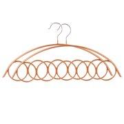 Metal 5 Rings Scarves Tie Belt Hanger Holder for Closet Organizer Gold Tone 2pcs