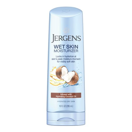 - Jergens Wet Skin Moisturizer with Refreshing Coconut Oil, 10 Fl Oz