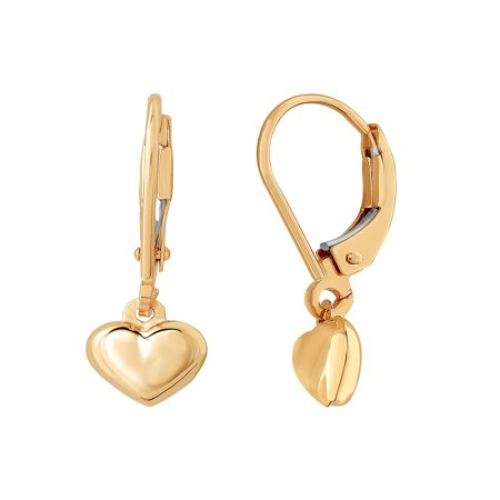 10kt Yellow Gold Heart Earrings
