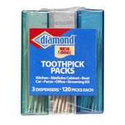 Diamond 3pk Dispenser Toothpick Packs