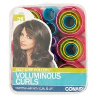 Conair Styling Essentials Self-Grip Rollers, 31 Ct