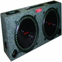 Kic100 Dual 10 Inch Car Audio Subwoofer Box with 5 Inch Tweeters