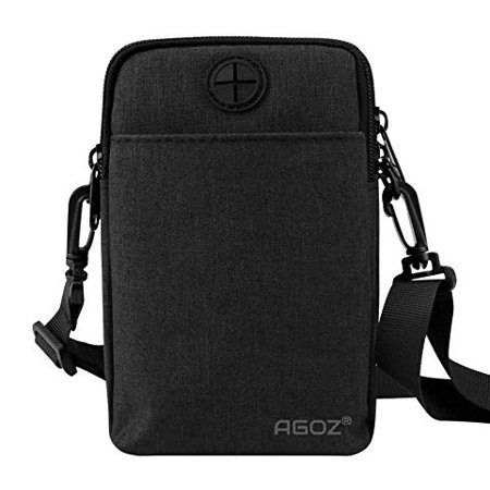 Agoz Crossbody Phone Purse Handbag Wallet shoulder strap Pouch Bag for Samsung Galaxy Note 5 / 4, S5, S4, J7 V, J7 Sky Pro, Prime, Perx, Star, J3 V, J3 Aura, J3 Orbit, Emerge, Mission, Luna