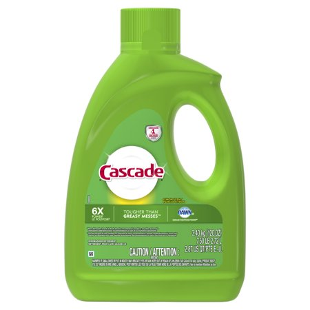 - Cascade Gel Dishwasher Detergent, Fresh Scent, 120 fl oz