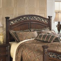 Signature Design by Ashley Furniture Leahlyn Panel Headboard in Brown-Queen