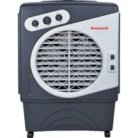 Honeywell CO60PM 1540 CFM 850 sq. ft. Indoor/Outdoor Portable Evaporative Air Cooler (Swamp Cooler) with Mechanical Controls, Gray/White