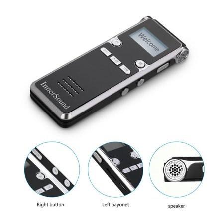 Digital Voice Recorder,8GB Voice Activated Recorder for Lectures/Meetings/Class, Stereo Audio Recording Device with Dual Microphone, Supports TF Card (Best Kjb Recording Devices)