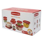 Rubbermaid Food Storage Containers with Easy Find Lids, 24-Piece Set