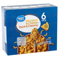 Great Value Thick & Creamy Macaroni & Cheese, 7.25 oz, 6 count