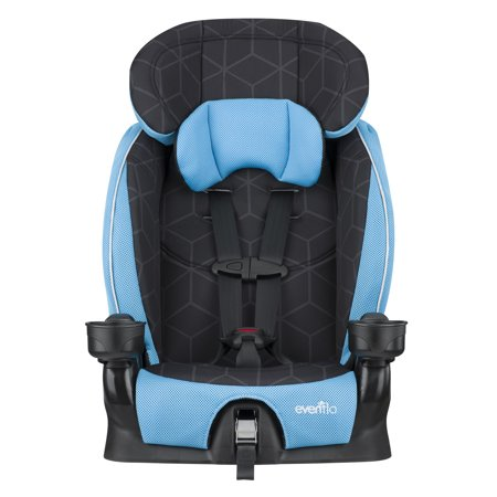 Evenflo Advanced Harness Booster Seat, Glacier (5 Point Harness Toddler Car Seat)
