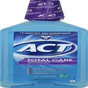ACT® Total Care Anticavity Fluoride Icy Clean Mint Mouthwash, 33.8oz