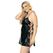 474d8b7a444 Plus Size Full Figure Sexy Soft Side Lace-Up Chemise Lingerie