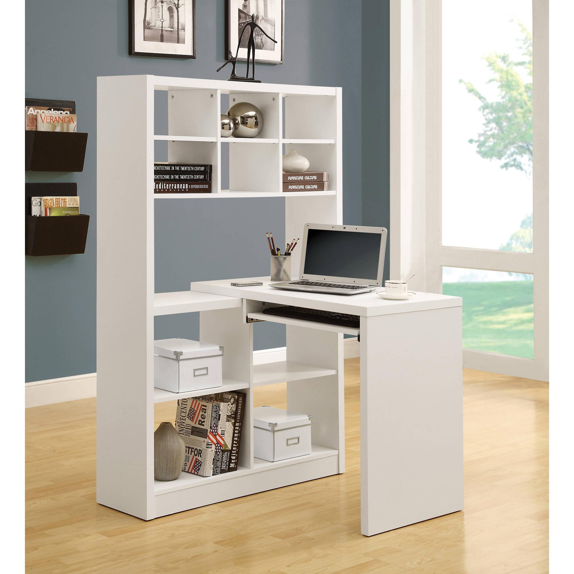 White desk with hutch Shaped Monarch Hollowcore Left Or Right Facing Corner Desk With Hutch White Jutijakaveritinfo White Desks Hutches