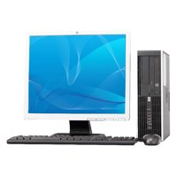 "Off Lease REFURBISHED HP 8000 Elite C2D 3.0GHz 8GB 1TB DVD Win 7 Pro64 Computer + 19"" LCD"