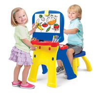 Crayola Triple-the-Fun Art Studio Easel and Desk