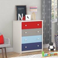 Cosco Kaleidoscope 4 Drawer Dresser, Classic