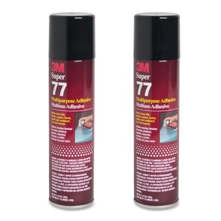 QTY 2 3M 7.3 oz SUPER 77 SPRAY Glue Multipurpose Bond General Strong Adhesive for Canvas Frame