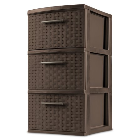 Sterilite 3 Drawer Weave Tower Espresso Walmart Com