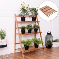 TMISHION Multi Layer Foldable Flower Plant Pots Display Rack Stand Shelf Storage Rack Shelving Unit for Balcony Living Room Garden Patio Indoor and Outdoor Decoration