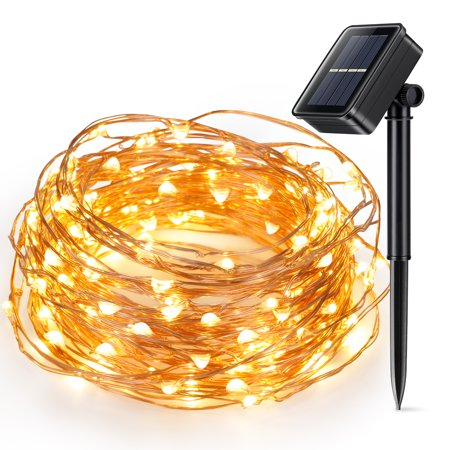 Solar Powered Christmas String Light, Kohree 100 Micro LEDs Light String With 33ft Long Ultra Thin String Copper Wire - Halloween Solar Lights