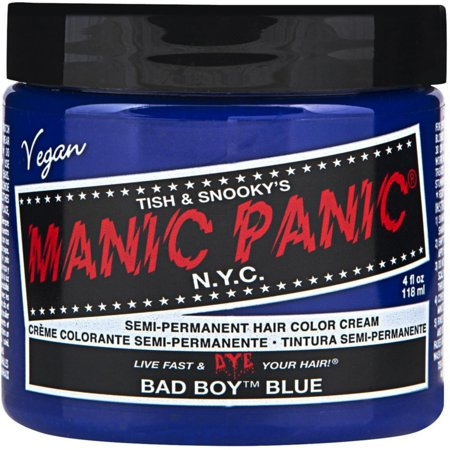 Manic Panic Semi-Permanent Hair Color Cream, Bad Boy Blue 4 oz (Girls With Blue Hair)