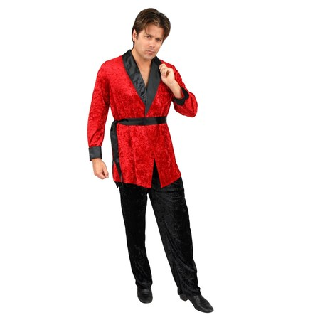 Smoking Jacket Red Adult Costume](Vee Lounge Halloween)