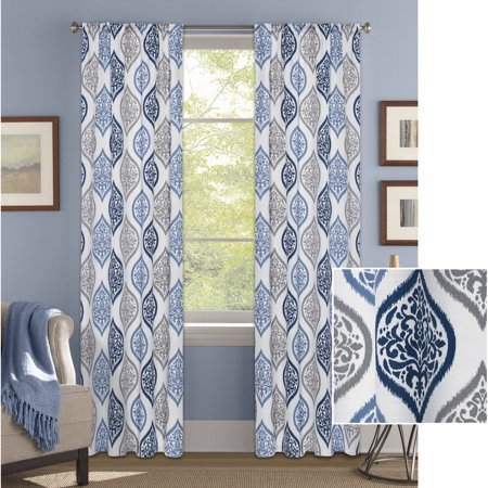 Better Homes & Gardens Damask Ogee Curtain Panel](Gold Shimmer Curtains)