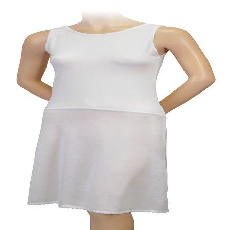 Gemsli Womens Comfort, Reversible Cotton Top full Slip, Cling Free, (Full Euro Top)