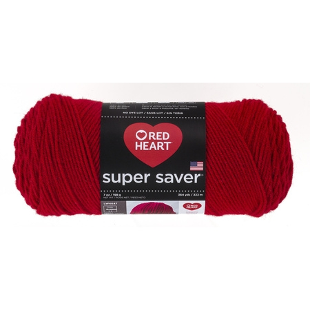 - Red Heart Super Saver Acrylic Economy Cherry Red Yarn, 1 Each