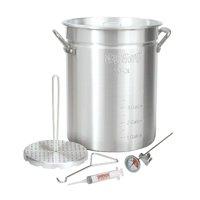 Bayou Classic 30 Quart Aluminum Whole Turkey Fryer Stockpot with Accessories