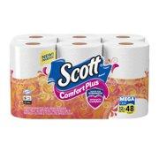 Scott ComfortPlus Toilet Paper, Mega Roll, 12 Rolls, Bath Tissue