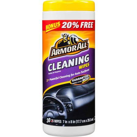 Armor All Cleaning Wipes, 30-Count, Car Cleaning, Auto Detailing Car Wash Detailing Supplies