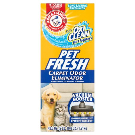 Pet Odor Removing ((2 Pack) Arm & Hammer Pet Fresh Carpet Odor Eliminator, 42.6)