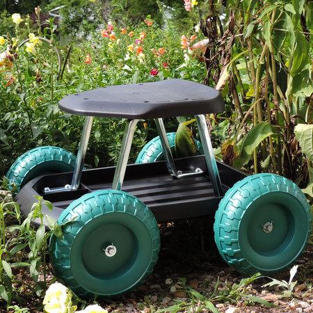 Pure Garden Rolling Garden Work Scooter w/ Tool (Ultimate Garden Tool)