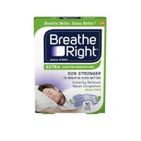 Breathe Right Extra Clear Drug-Free Nasal Strips for Nasal Congestion Relief 10 count