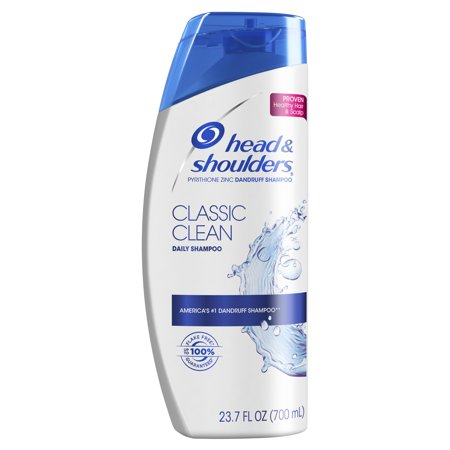 Quick Clean Waterless Shampoo - Head and Shoulders Classic Clean Daily-Use Anti-Dandruff Shampoo, 23.7 fl oz