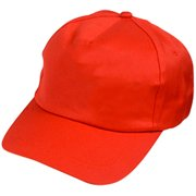 Adults Red Color Baseball Hat Costume Accessory