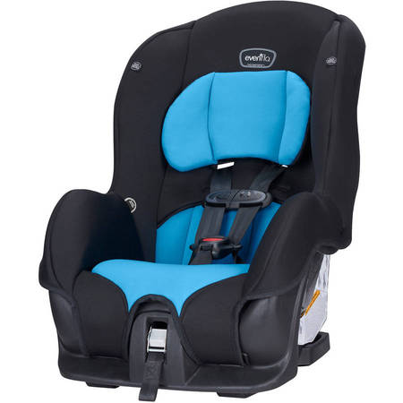 Evenflo Tribute LX Convertible Car Seat, Azure (5 Point Harness Toddler Car Seat)